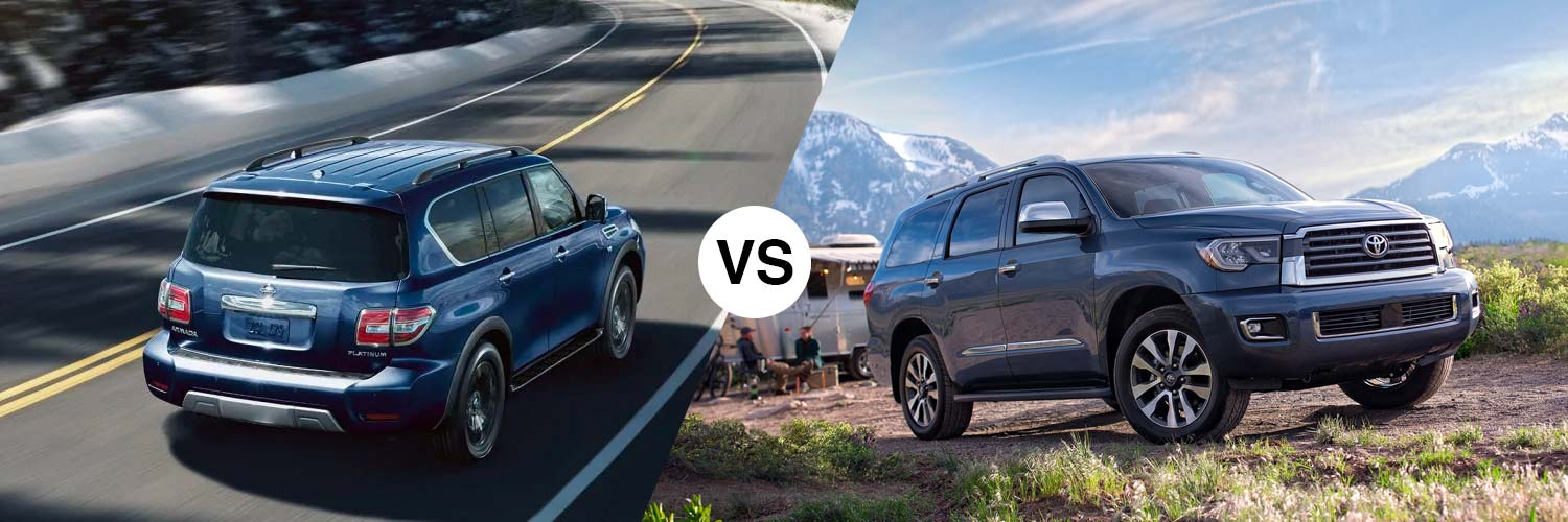 Compare the 2019 Nissan Armada and 2019 Toyota Sequoia in Metairie, LA