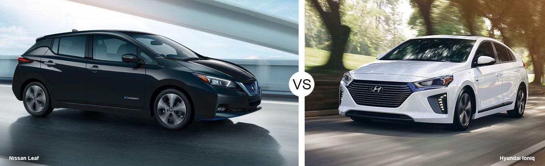 2019 Nissan LEAF vs. 2019 Hyundai Ioniq