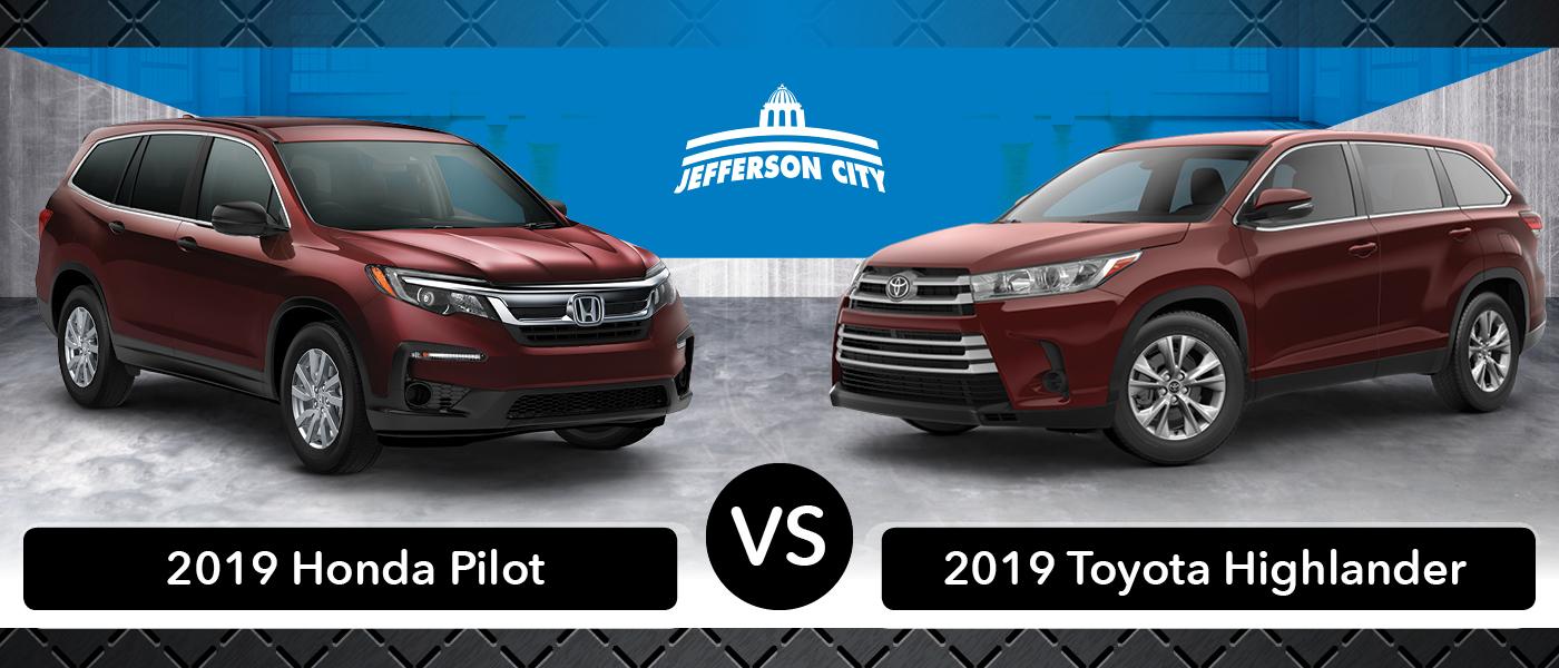 2019 Honda Pilot vs. 2019 Toyota Highlander