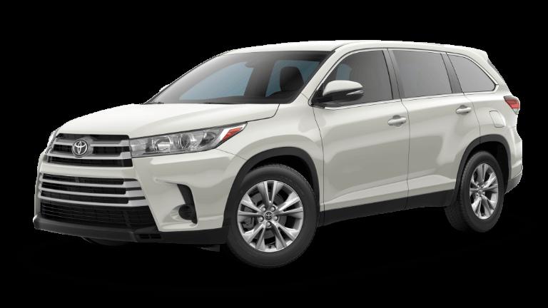 White 2019 Toyota Highlander LE