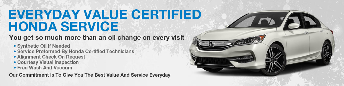 everday value certified honda service