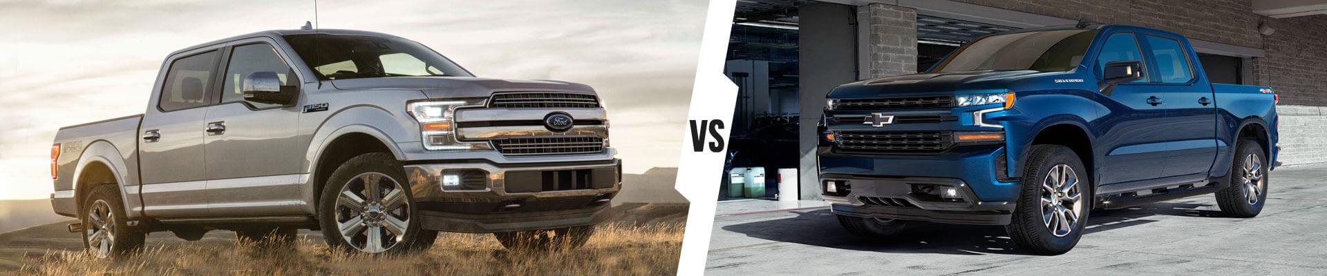 How the 2020 Chevrolet Silverado 1500 and the 2019 Ford F-150 Compare