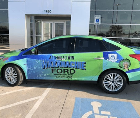 Waxahachie Ford contest car