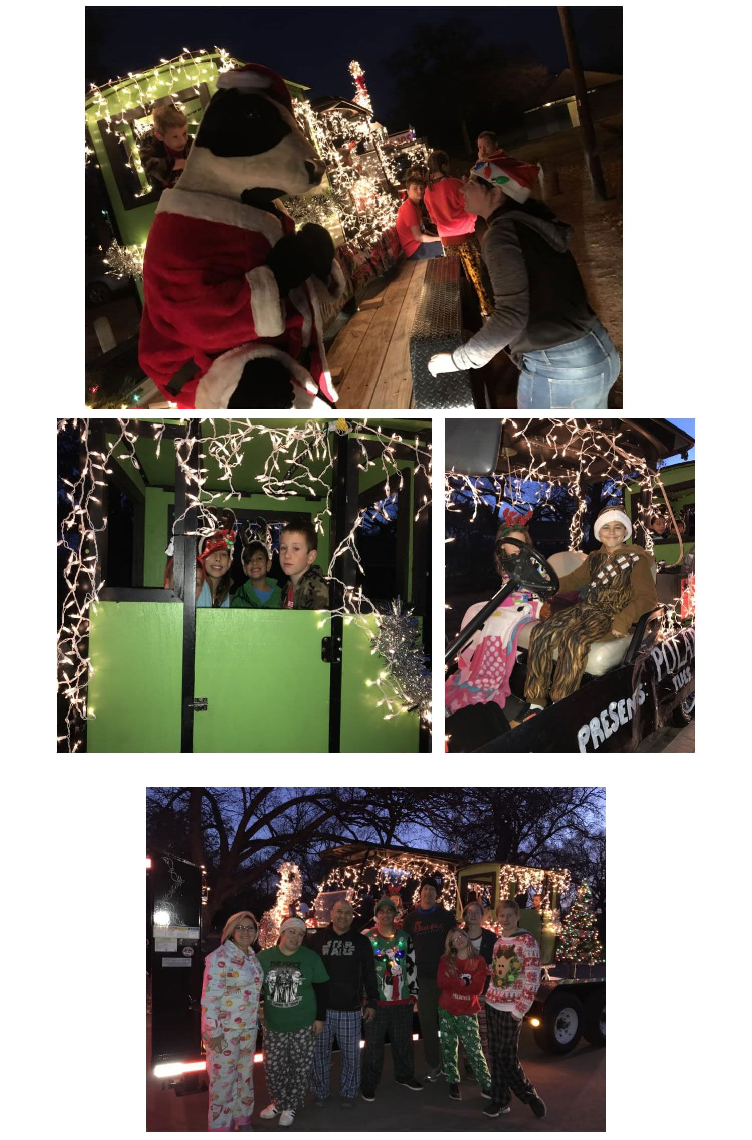 2018 Waxahachie Parade of Lights with our Local Chick-fil-A