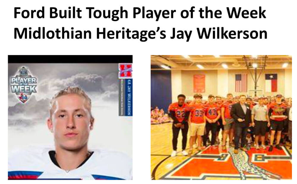 Ford built tough player of the week