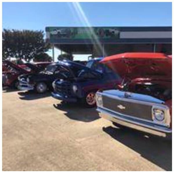 car show at Waxahachie Nissan