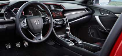 2019 Honda Civic Si Coupe Interior