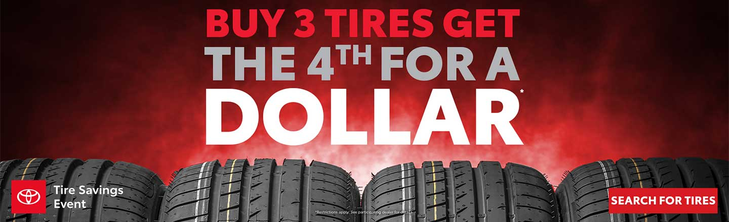 Buy 3 Tires Get 4th for $1