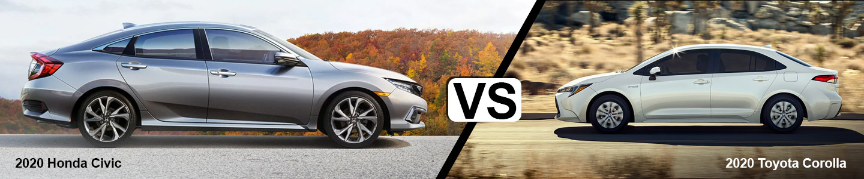 Comparing The 2020 Honda Civic Against The Toyota Corolla