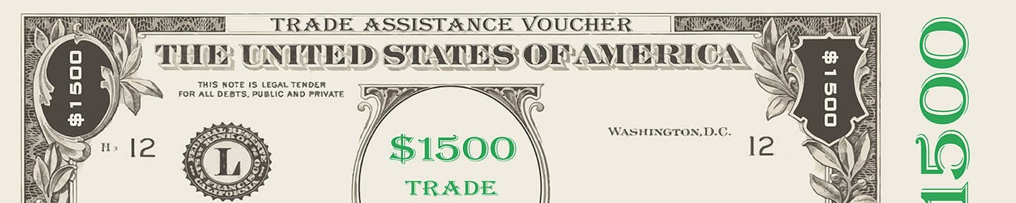 Half Of A Trade Assistance Voucher