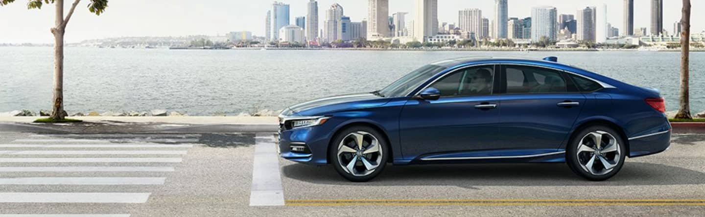 Blue 2020 Honda Accord On Road Oceanside