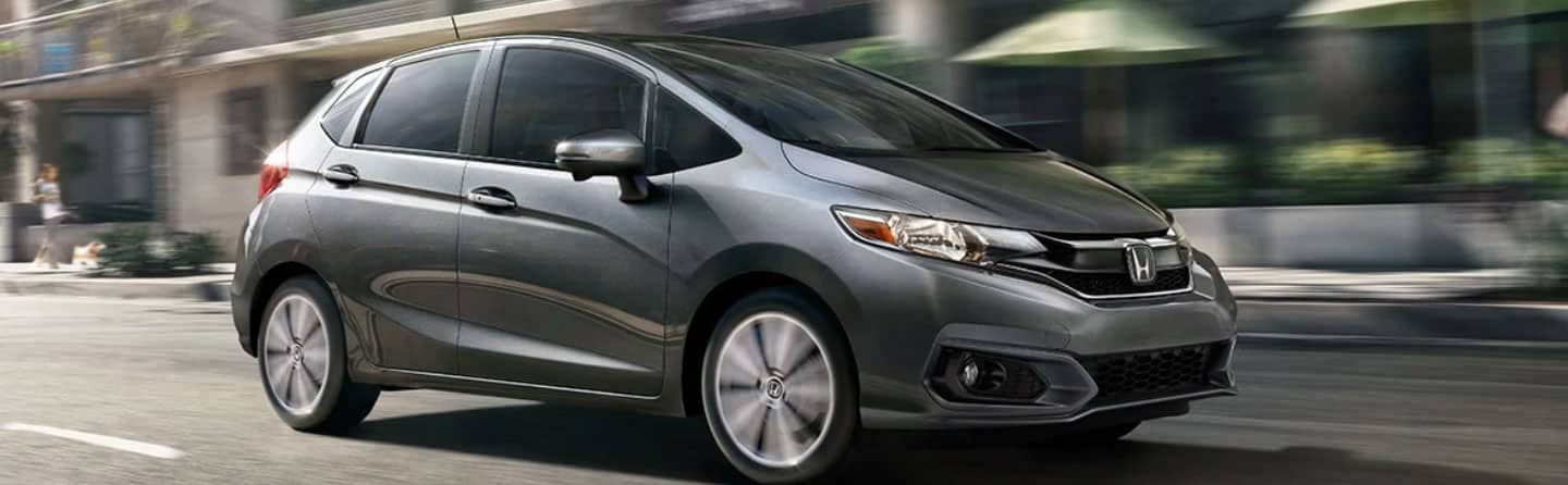 Silver 2019 Honda Fit Driving On The Road
