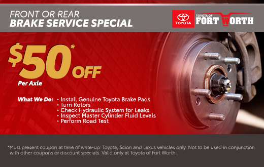 Front or Rear Brake Service Special