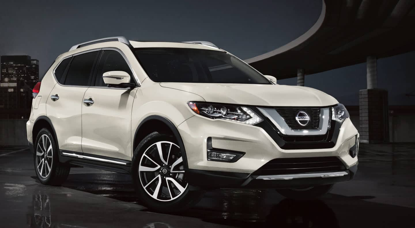 The 2020 Nissan Rogue in white