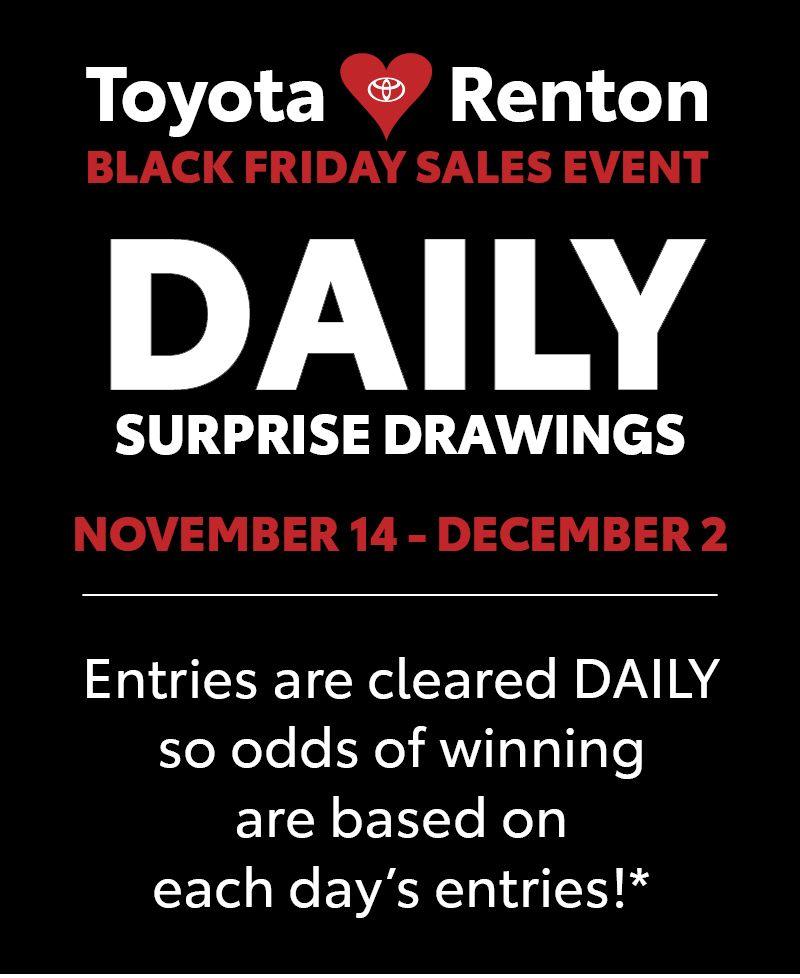 Toyota of Renton Black Friday Sales Event