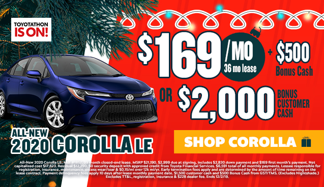 Toyotathon Offer Corolla
