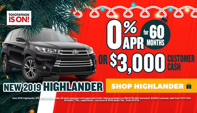 Toyotathon offer Highlander