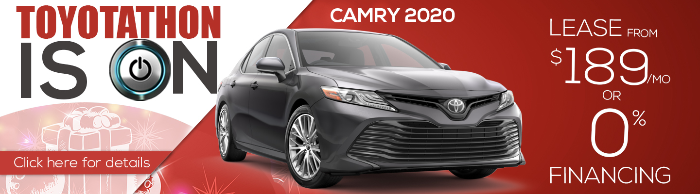 Toyotathon 2020 Toyota Camry Lease $189 a month