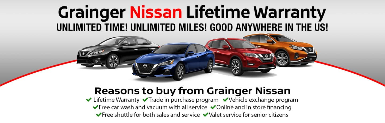 Grainger Nissan of Beaufort Lifetime Warranty