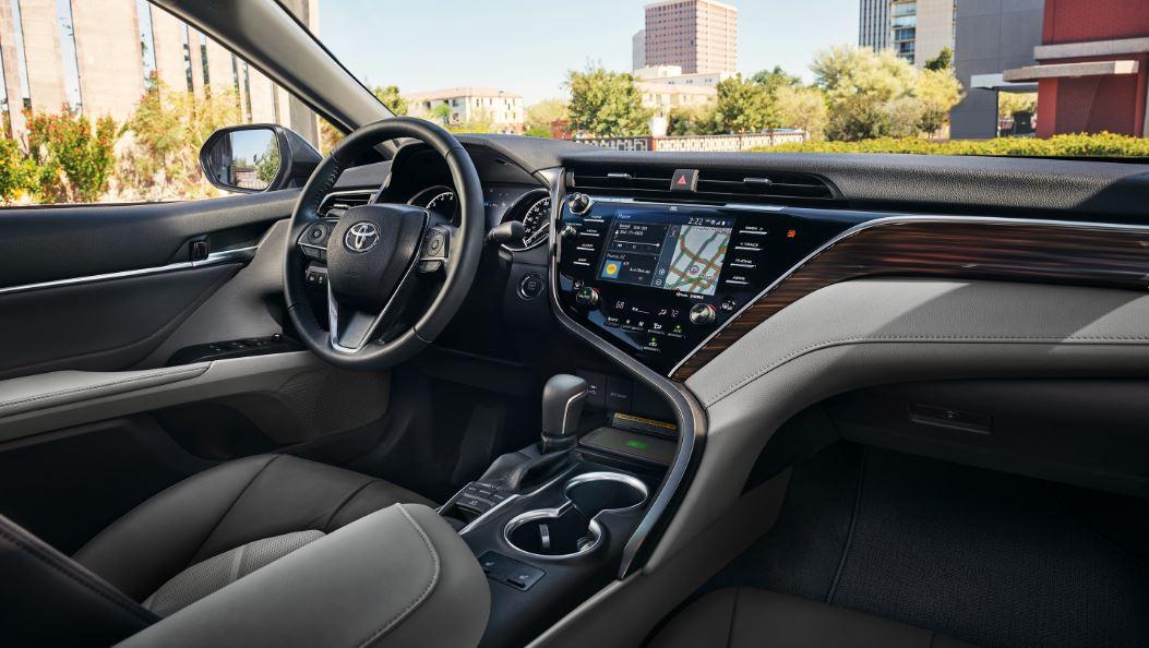 Interior of 2020 Toyota Camry Hybrid