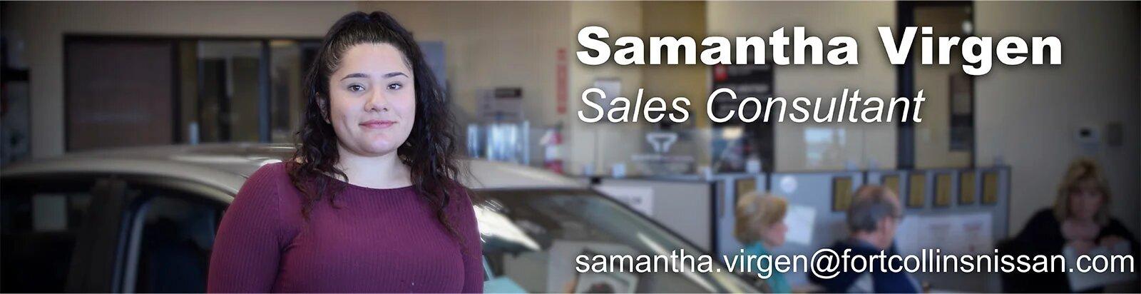 Sales Consultant Samantha Virgen