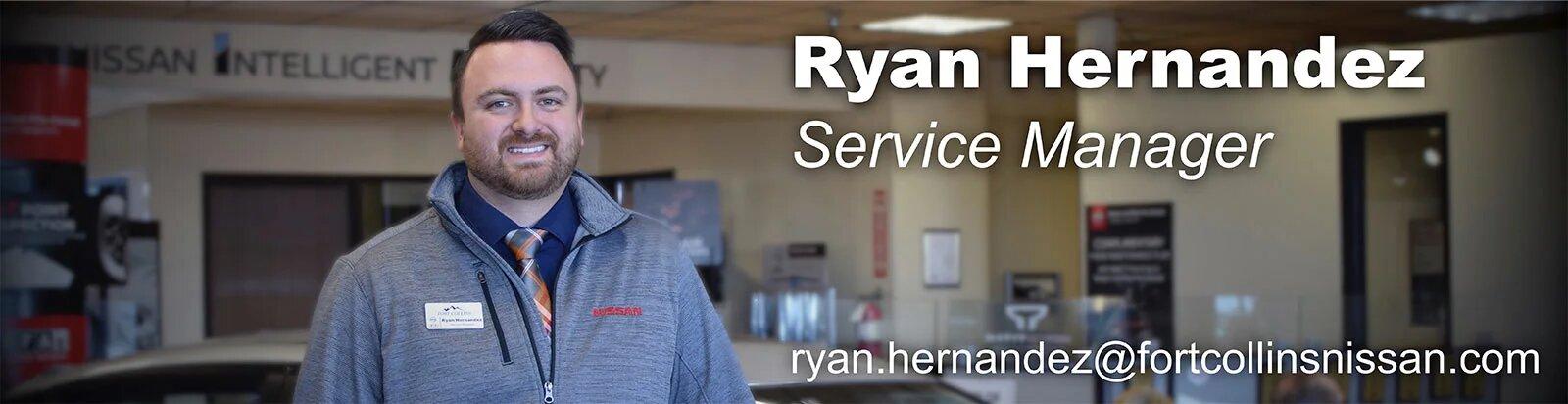 Service Manager Ryan Hernandez