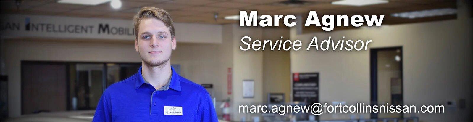 Service Advisor Marc Agnew
