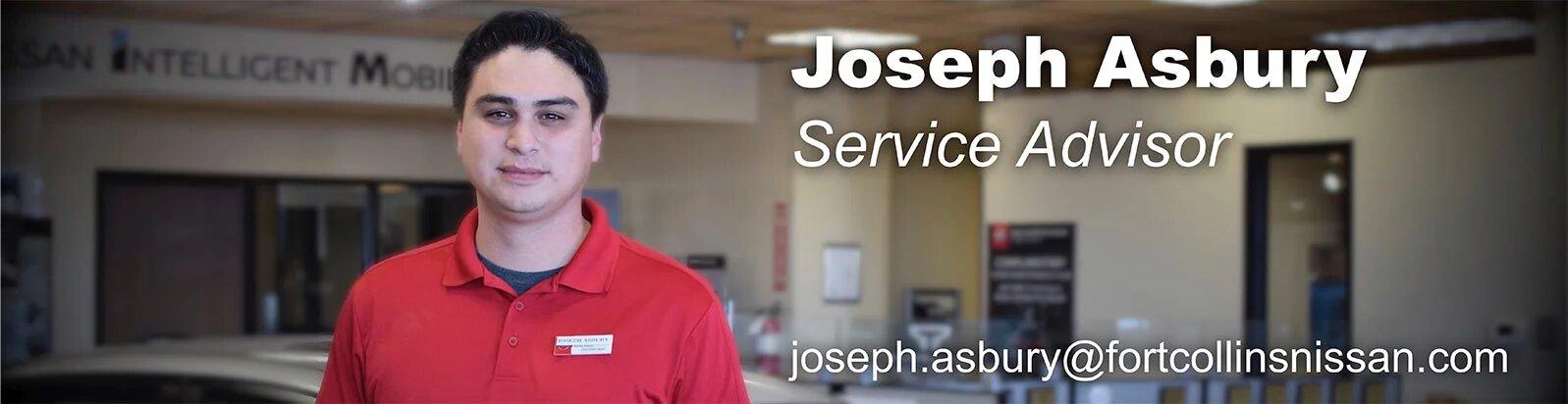 Service Advisor Joseph Asbury