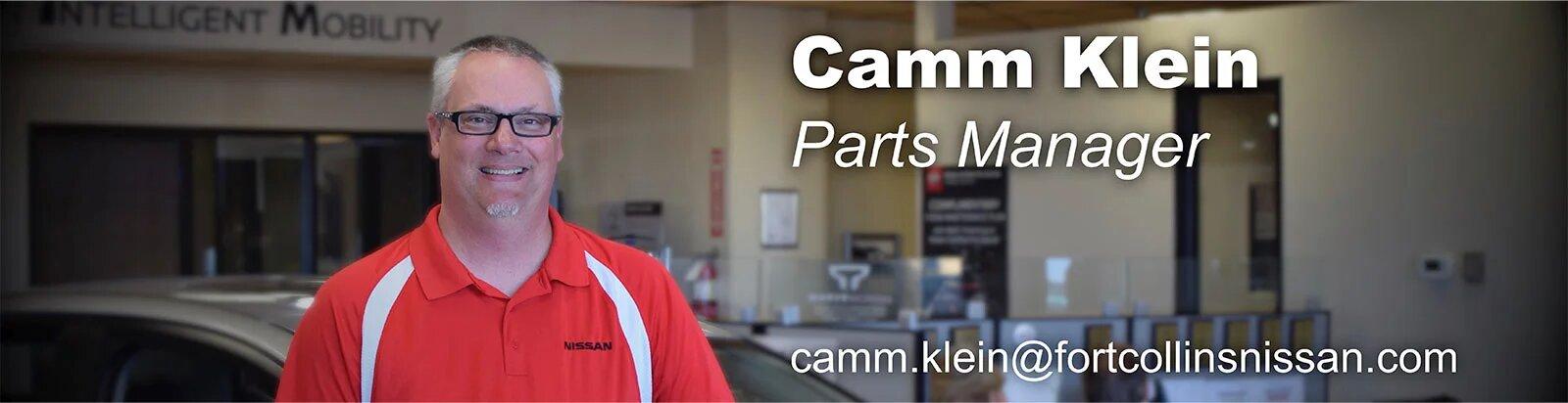 Parts Manager Camm Klein