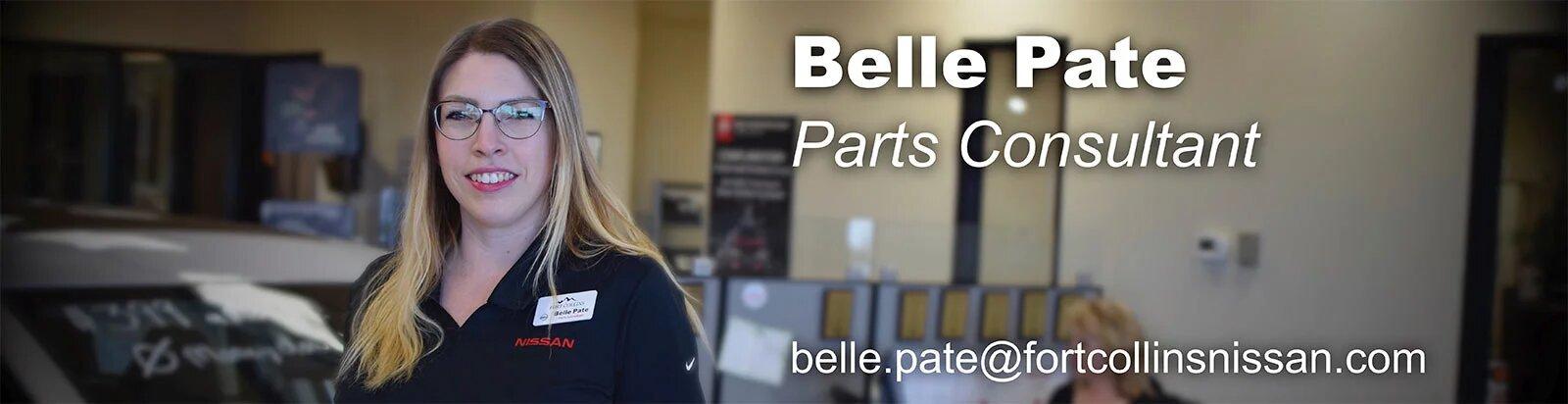 Parts Consultant Belle Pate