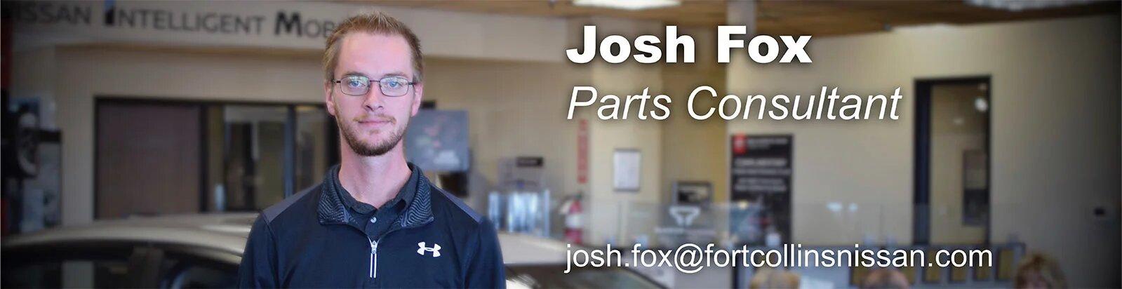 Parts Consultant Josh Fox