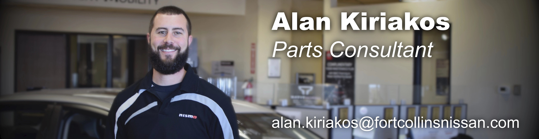 Parts Consultant Alan Kiriakos