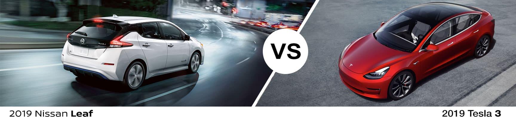2019 Nissan Leaf vs 2019 Telsa 3