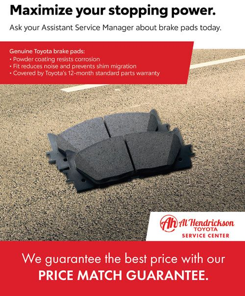 Price Match Guarantee brake pads