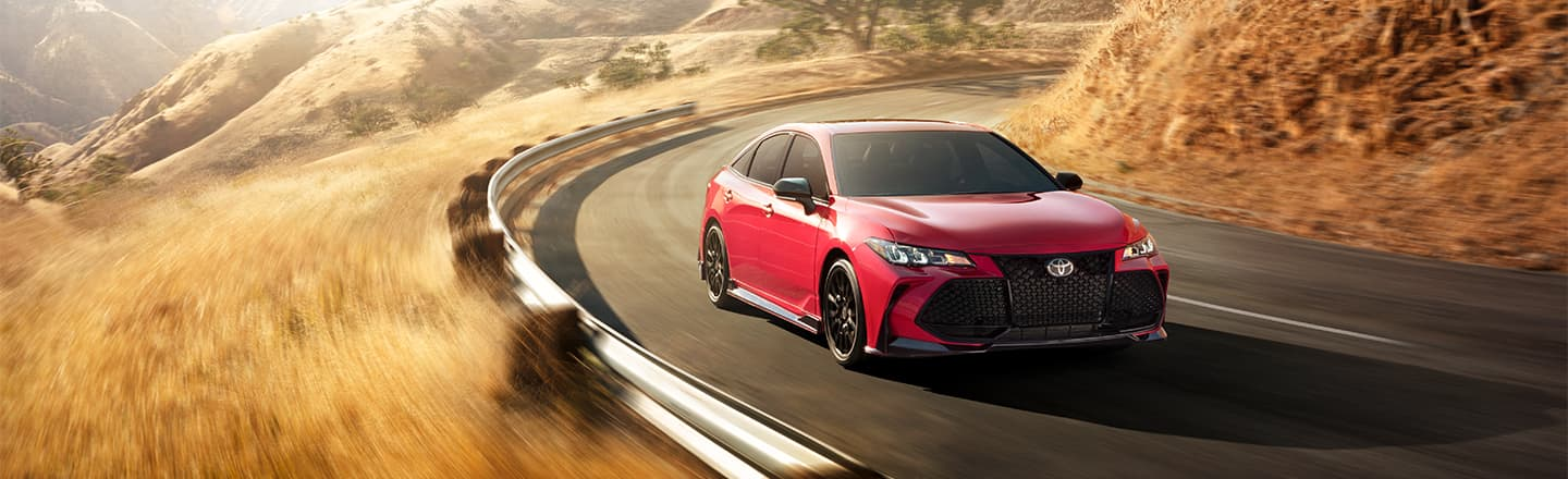 2020 Toyota Avalon Driving Cliffside Road
