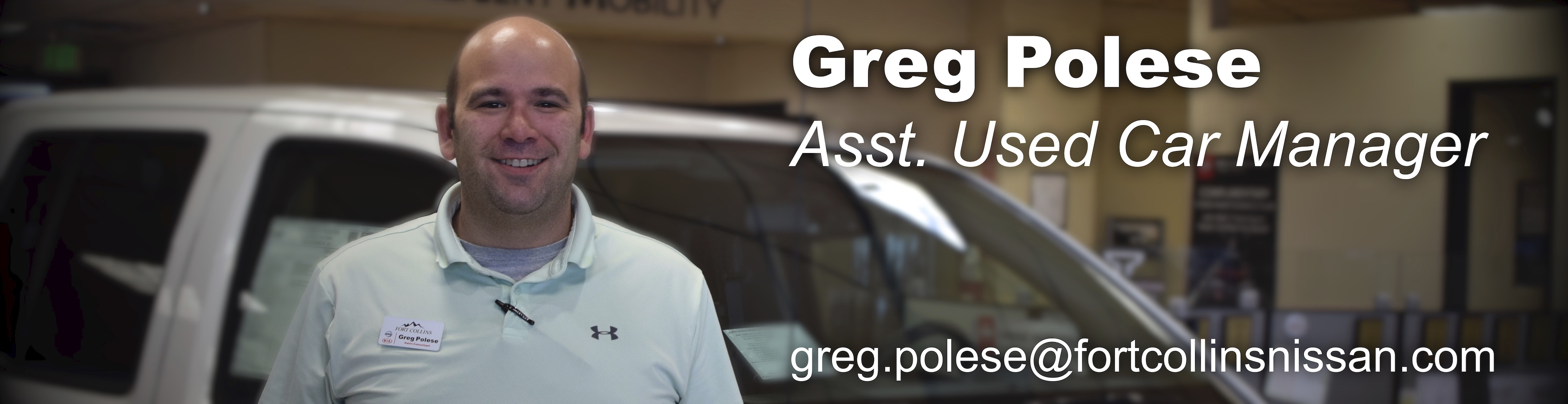 Assisstant Used Car Manager Greg Polese