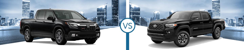 2020 Honda Ridgeline vs. 2020 Toyota Tacoma in Westerville, OH