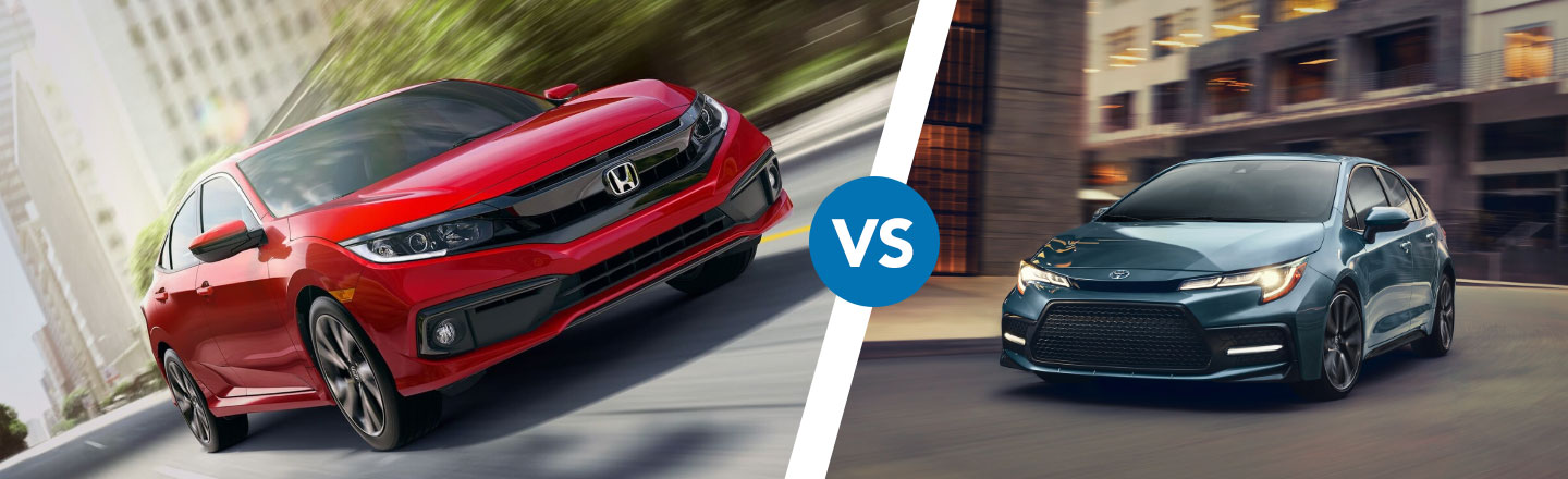 Differences Between The 2020 Honda Civic & Toyota Corolla In Cocoa, FL