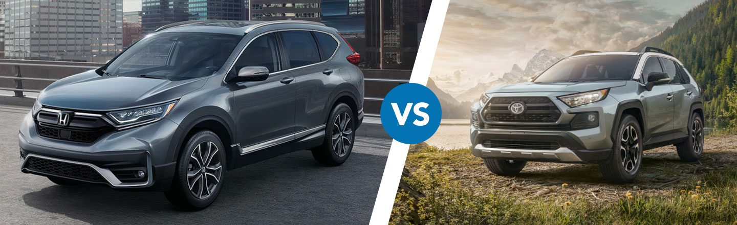 Comparing The Differences Between The CR-V & Toyota RAV4 In Cocoa