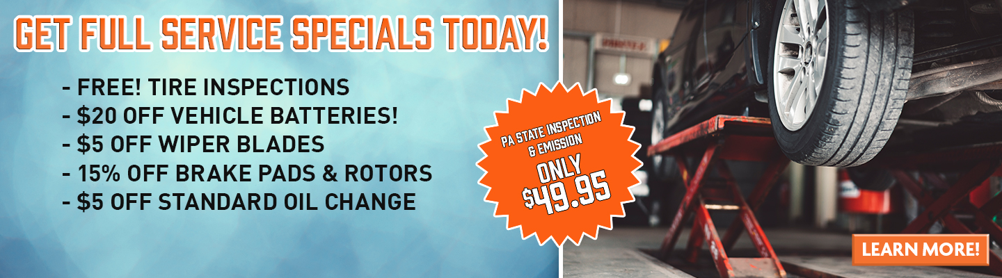 Full Service and PA State Inspection Specials at Thrifty Car Sales of Coopersburg