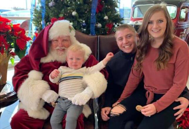 Santa and crying baby