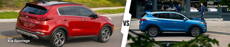 New Compact SUV Comparison: 2020 Kia Sportage Versus 2020 Hyundai Tucson