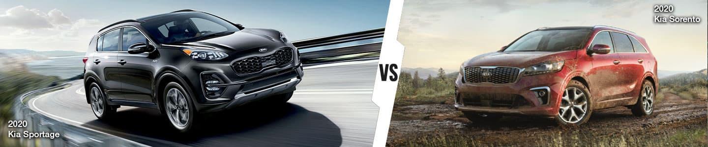 Kia SUV Comparison: 2020 Kia Sportage Versus 2020 Kia Sorento