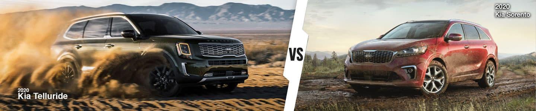 Kia SUV Comparison: 2020 Kia Telluride Versus 2020 Kia Sorento