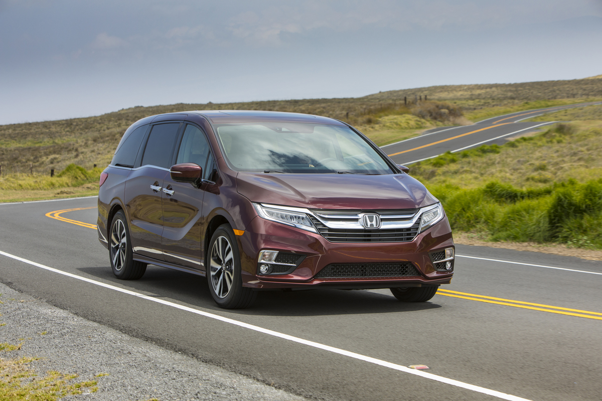 2020 Honda Odyssey on the road