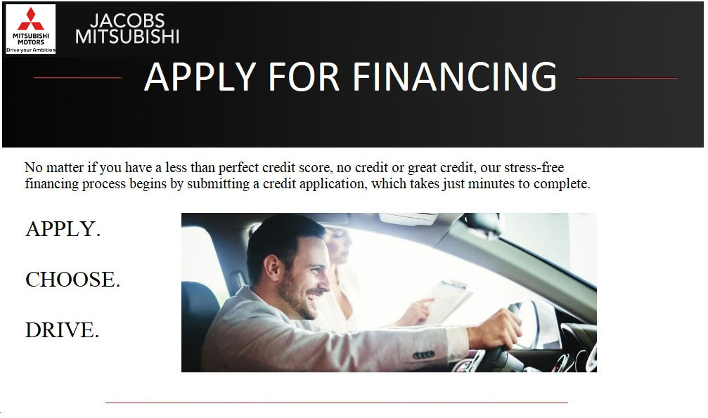Used Auto Loan Credit Application at Jacobs Mitsubishi, Serving Tampa, FL