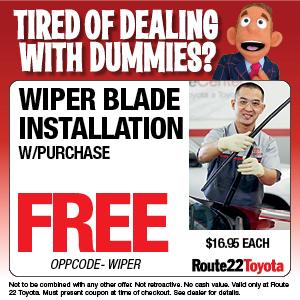 Wiper Blade Installation Special