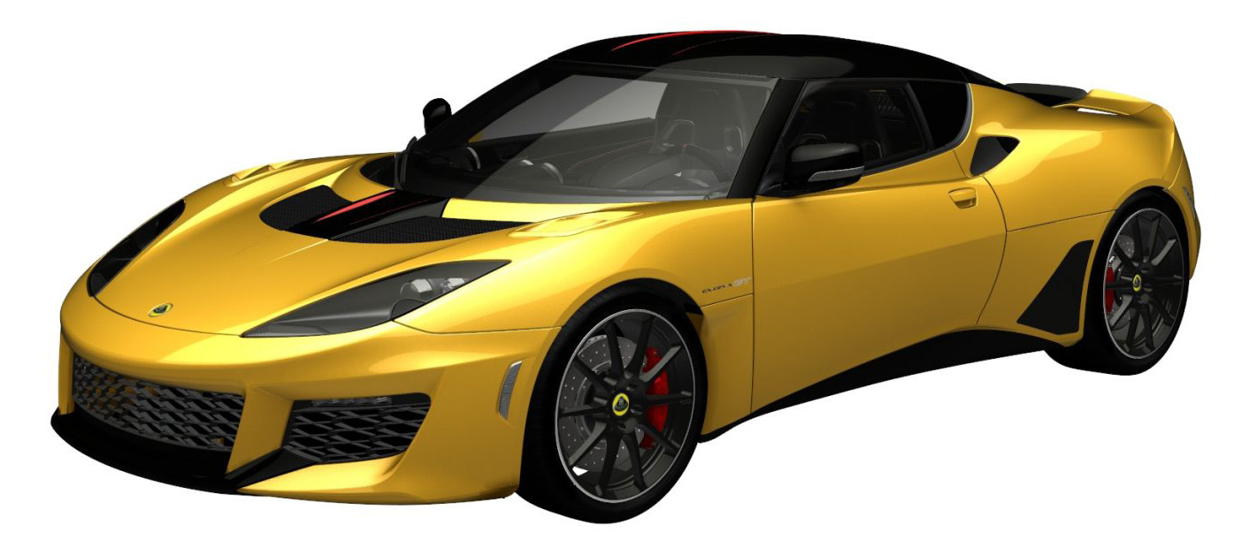 evora gt metallic yellow