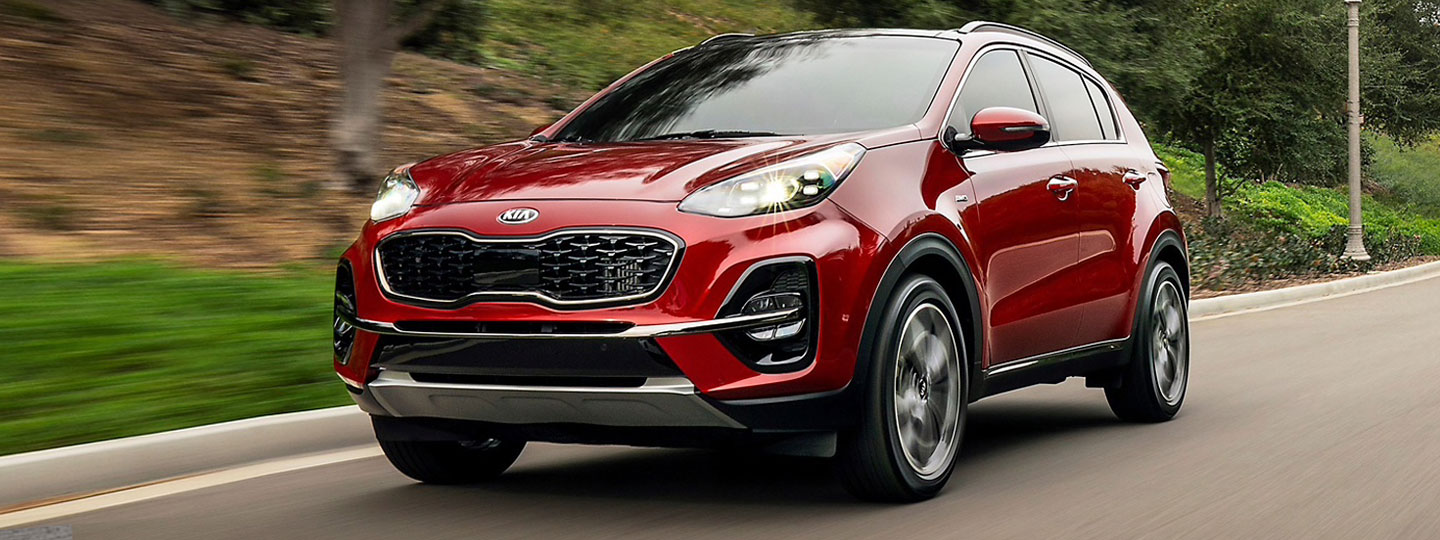 2020 Kia Sportage on the road