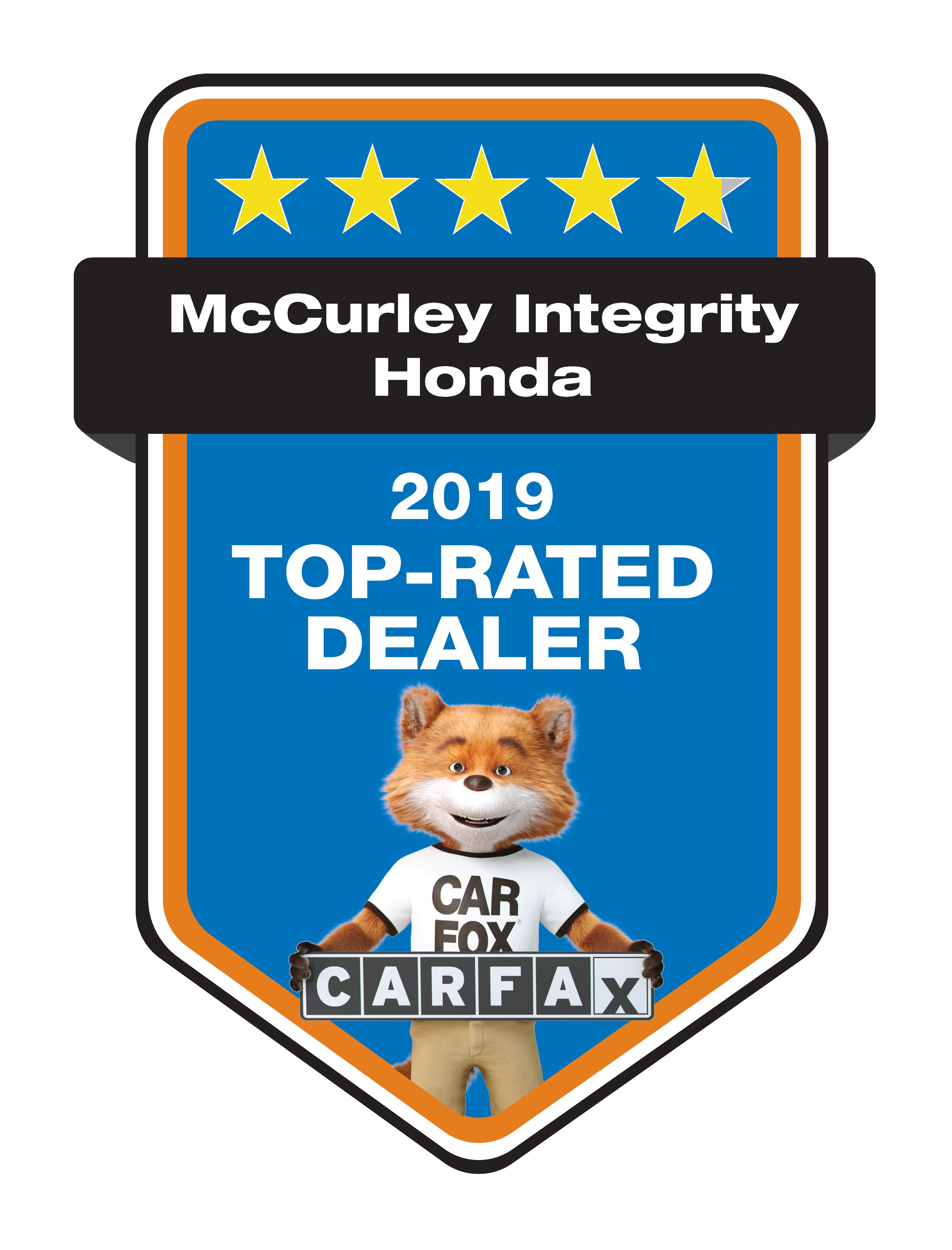 CarFax 2019 Top Rated Dear Award
